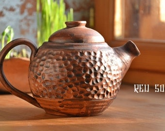 Ceramic Teapot, Stoneware Tea Pot, Clay Pottery Tea maker (Watch the video about my work process)