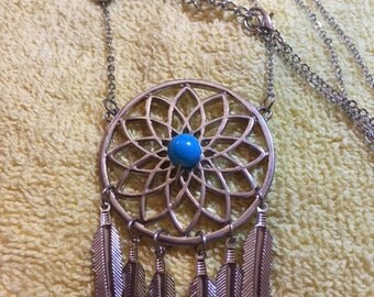 """Repurposed/Recycled """"Dream Catcher"""" Necklace"""
