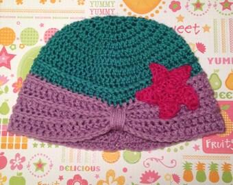 Ariel, The Little Mermaid Crochet Turban Hat