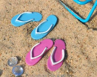 Beach Flip Flops, Set of 2 for Miniature Garden, Fairy Garden