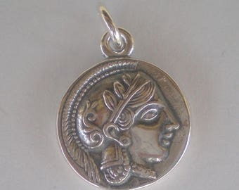 For Sale Athens Tetradrachm - Godess Athena & Owl of Wisdom Silver Pendant