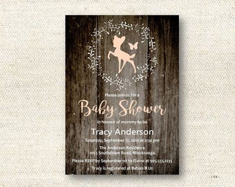 Little Fawn Baby Shower Invitation | DIGITAL FILE