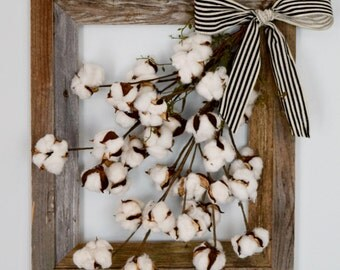 Cotton Stem Wall Decor | Rustic W