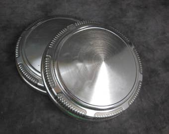 Set Of 2 1969-74 Mopar Dog Dish Hubcaps, - Vintage