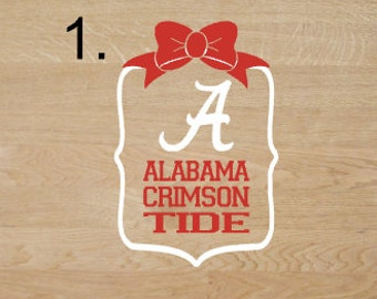 Alabama Crimson Tide framed decal