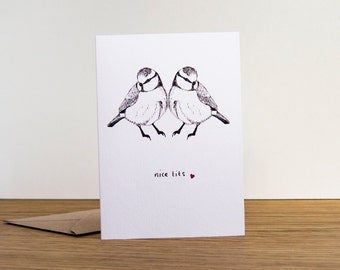 Nice Tits // Anniversary Card // Love Card // Valentines Card // Birthday Card for Her // Breasts & Boobies