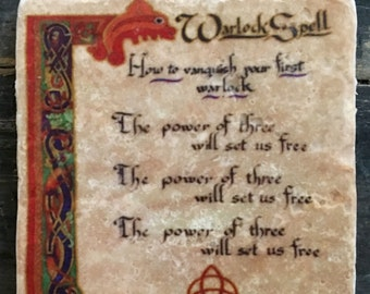 Warlock Spell Book of Shadows Coaster or Decor Accent