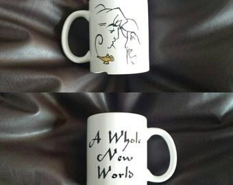 Hand painted mug inspired by Aladdin
