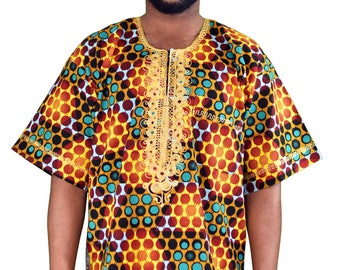 Polka Ankara Dashiki- Medium
