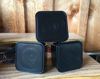 SALE!! Buy 1 get 1/2 off second purchase ELECTRONICS/Set of three petite surround sound RCA Speakers//Two Rear speakers one front