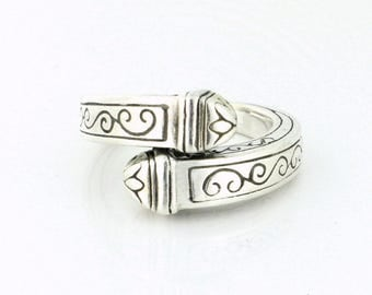 Detailed Solid Sterling Silver Ring 13.7g - SS10086