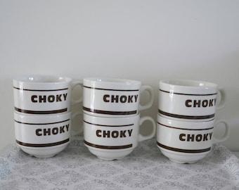 6 cups to coffee, capuccino Choky, Churchill England, china