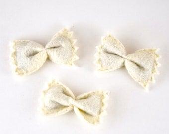 Felt Bowtie Pasta Catnip Cat Toy, Set of 3, Handmade