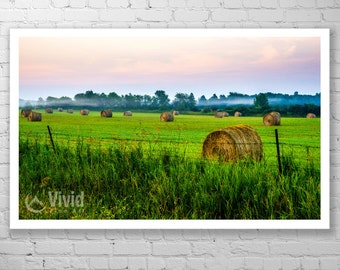 Farmland photography, Manitoulin island, framed art print, matted photography, rural farm picture, 8x10 print, 12x20 print, 14x20 framed art