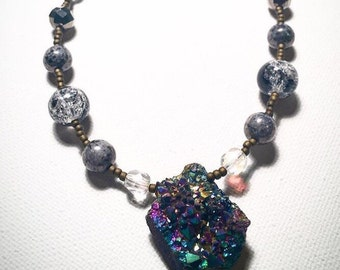 Geode Beaded Necklace