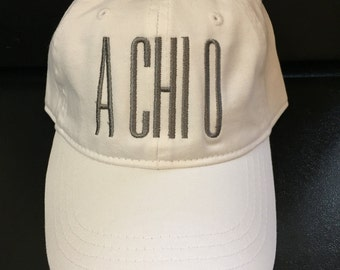 Alpha Chi Omega // A Chi O // Embroidered Sorority Baseball Cap // Big Little Gift // Recruitment Sorority Gift