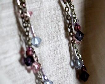 Purple Waterfall Earrings
