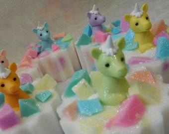 Unicorn Soaps - Unicorn Birthday Party - Unicorn Party Favors - Girls Soap - Toy Soap - Pony Soap - Novelty Kids Soap - Stocking Stuffers