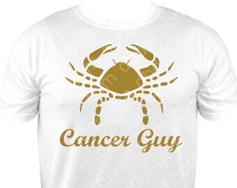 "New Zodiac Metallic Gold ""Cancer Guy"" Tee"