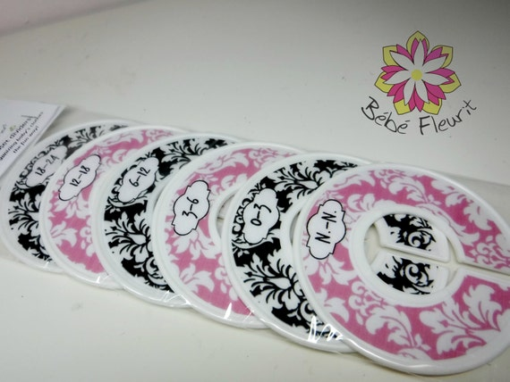 baby  closet divides for  organizing space, n.-n. to 24 month (6 pcs) damask