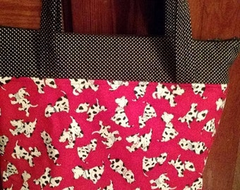 Red and black Dalmation purse