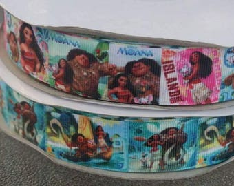 "1"" Moana Grosgrain Ribbon"