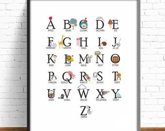 German alphabet | Etsy