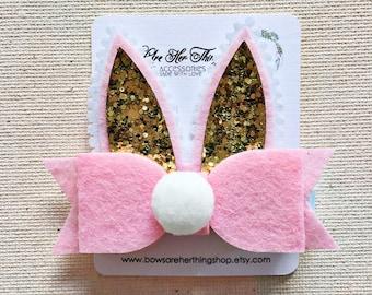 Bunny PomPom bow