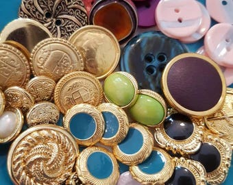 Vintage buttons - collection of buttons for crafting haberdashery supplies bear making crafts etc