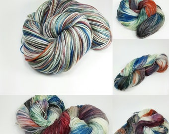 Superwash Sock Merino and Nylon Comfort Sock Base- A New Day colorway