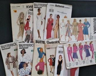 Lot #2--12 Sewing Pattern Envelopes-Paper-Ephemera-Destash-70s thru 2000s-Crafts-Decoupage-Collage-Scrapbooking Projects