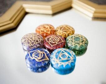 Orgone Chakra Set/ Chakra Stones
