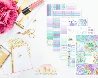 Fish Tales Weekly Kit | Planner Stickers designed for use with the Erin Condren Life Planner