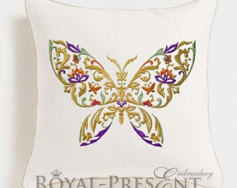 Machine Embroidery Design Decorative butterfly