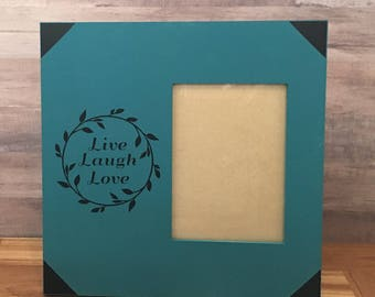 Teal and Black Picture Frame
