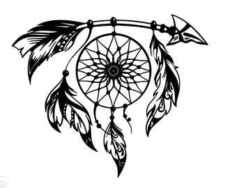 Arrow Dream Catcher Window Decal