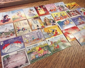 25 Disney Postage Stamps  - All Different