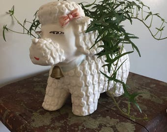 Cutest vintage poodle planter
