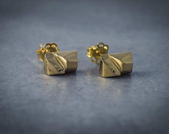 Yellow gold earrings/ rose gold studs/ white gold earrings, 10k gold studs