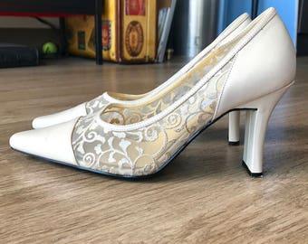 CLEARANCE Cream colored bellini heels