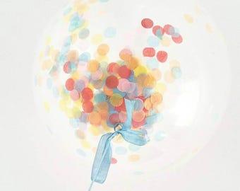 Finni Confetti Clear Balloon