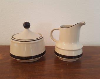 Stoneware Cream and Sugar Bowl Set