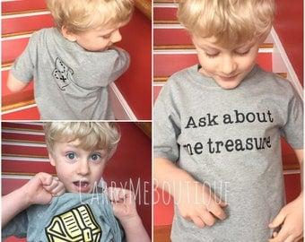 Pirate ask about me Treasure, hidden treasure, treasure map, pirate shirt