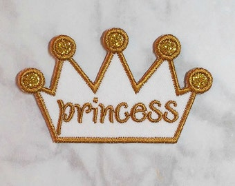 Iron On Crown Patch/Personalized Crown/Custom Colors/Crown Iron On/Crown Applique/Princess Patch/Princess Iron On/Backpack Patch/Birthday