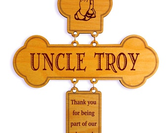 Wedding Brother Gift, Wedding Uncle Gift, Wedding Thank You Cross, Uncle/Brother/Aunt/Friend Appreciation Gift On our Wedding, DWO012