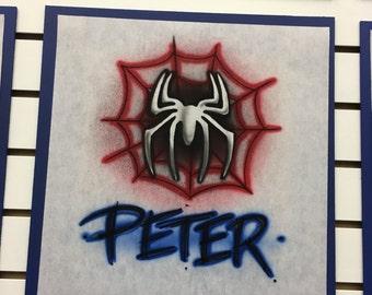 Spiderman shirt, Airbrush t shirt, spiderman svg, spiderman invitations, spiderman birthday shirt, spiderman birthday, spiderman party,