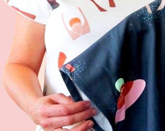 Bathing Ladies 100% Organic Cotton Ladies T - (WHITE)