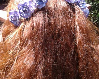 Beauty Violet Rose Hair Combs