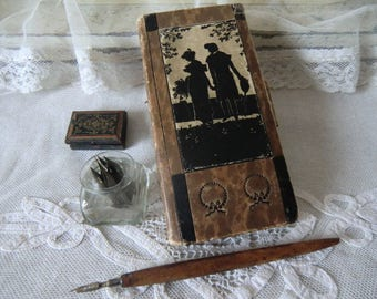 Antique writing pen with nibs notebook pen holder for the boudoir ladies Secretary
