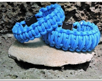Paracord Survival Bracelet - Blue